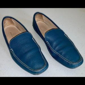Cole Haan Driving Moccasin Loafer Blue Leather 8.5
